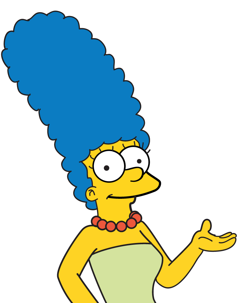 Simpsons marge png. Simpson transparent pictures free