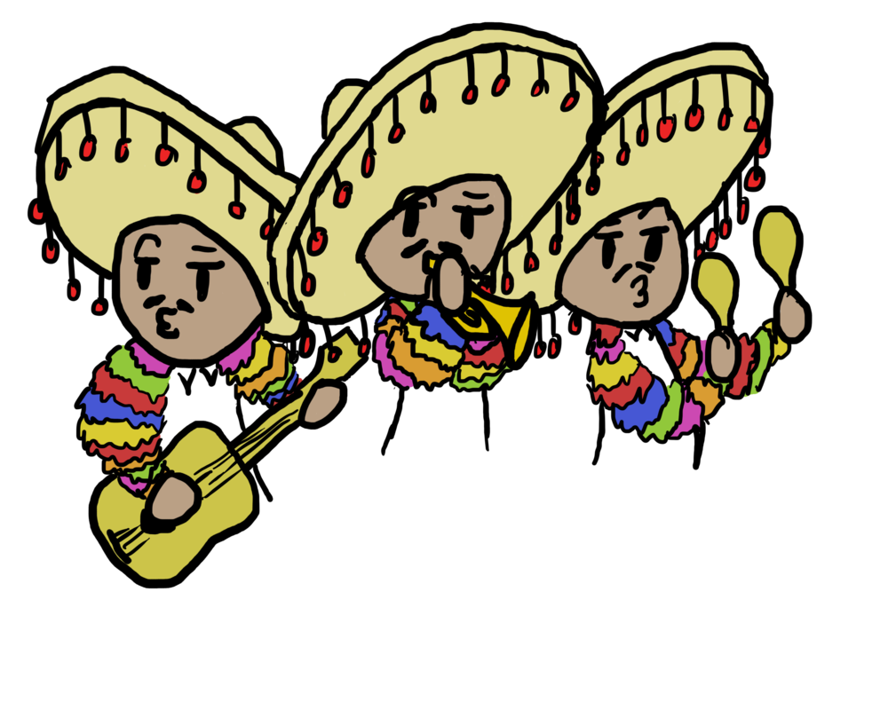 Mariachi band png. For my french project