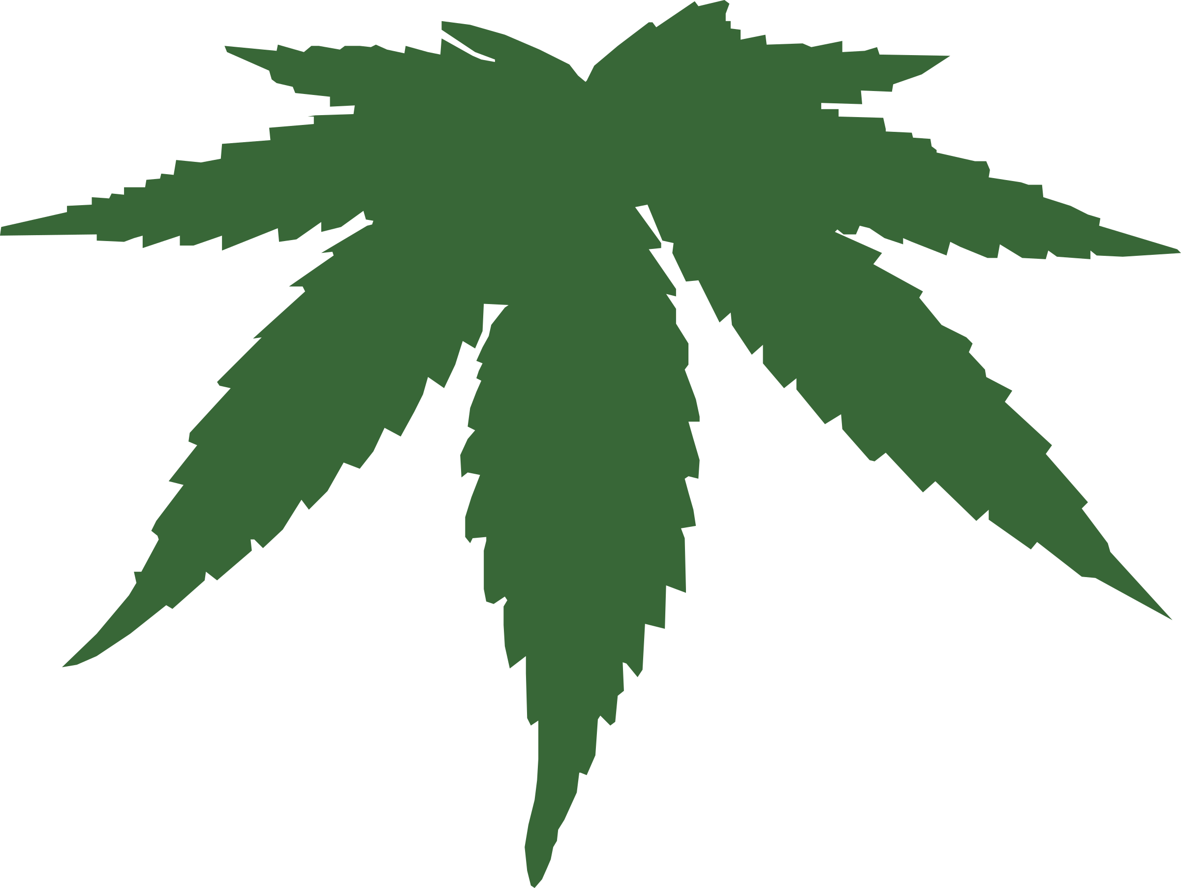 Weed svg animated. Clipart cannabis leaf big