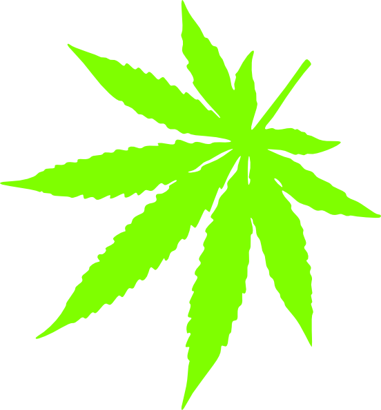 Weed svg animated. Left corner pot leaf