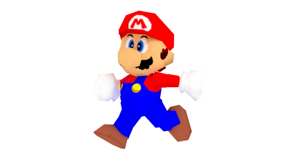 Mario 64 png. Super render by xspeedo