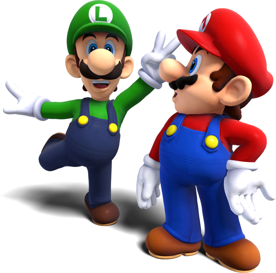 Mario and luigi png. Image remake by maxigamer