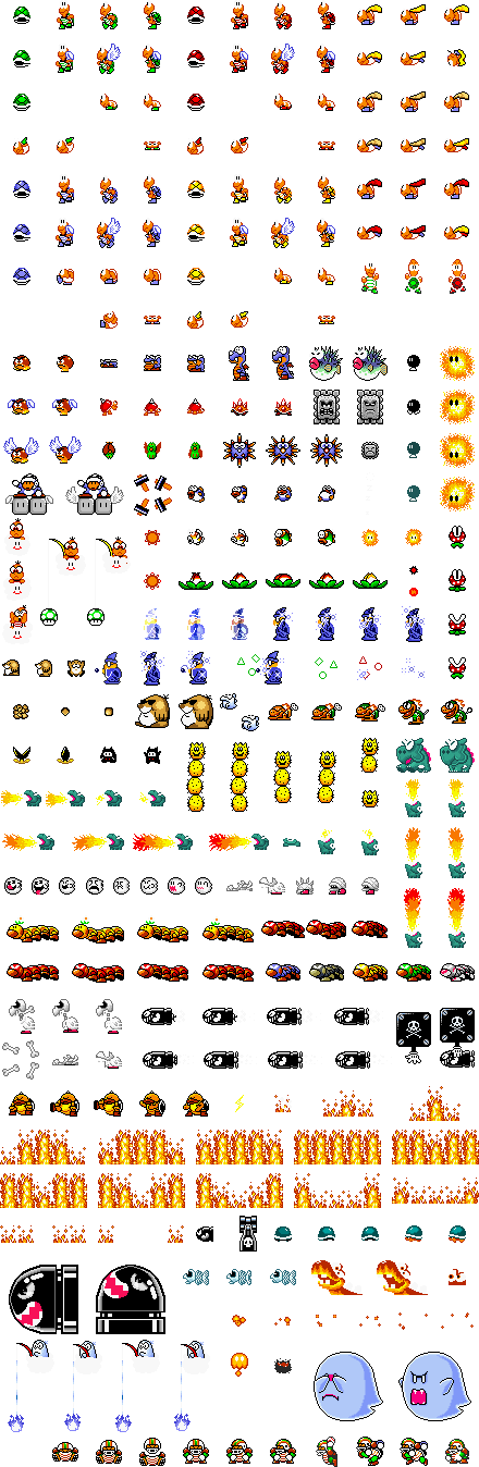 Mario backgrounds png. Super world sprite sheets