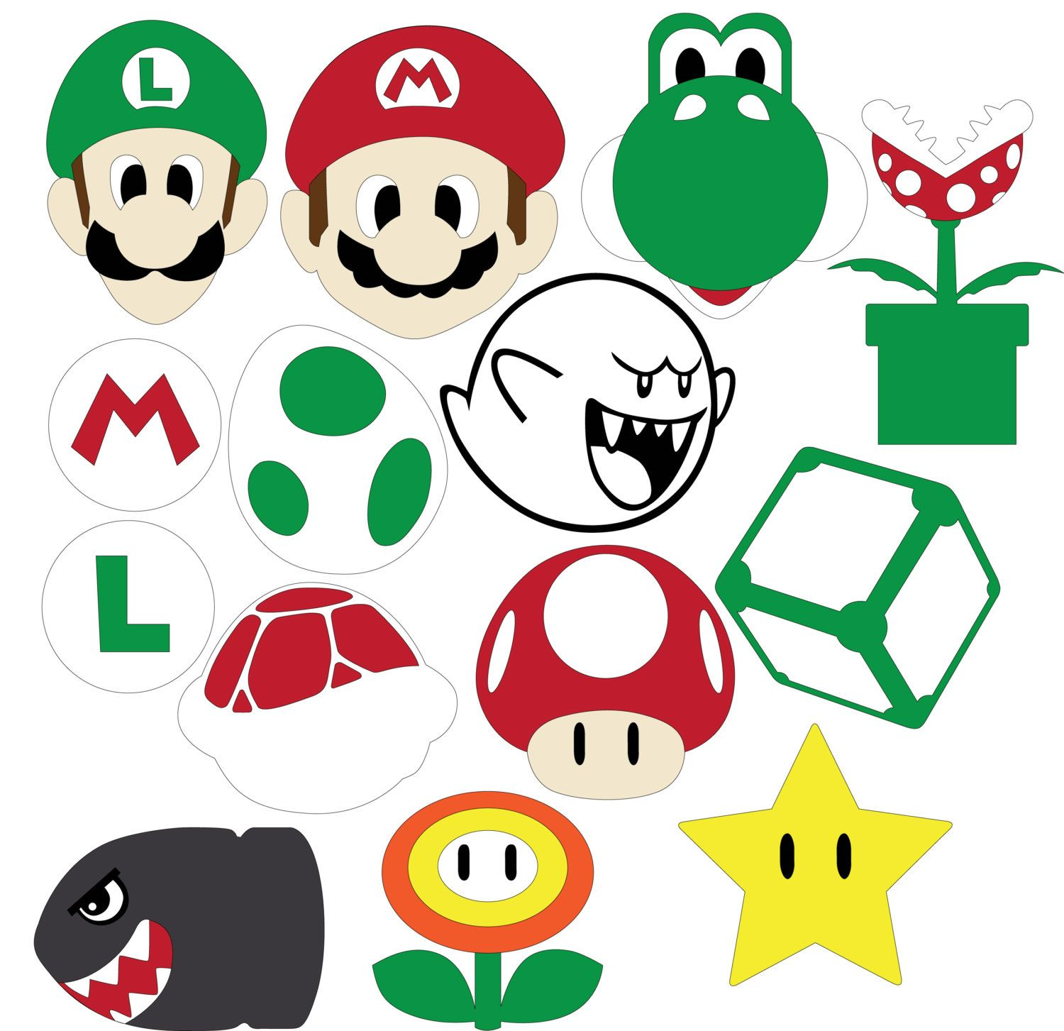 Mario clipart svg. Party dxf files cartoon