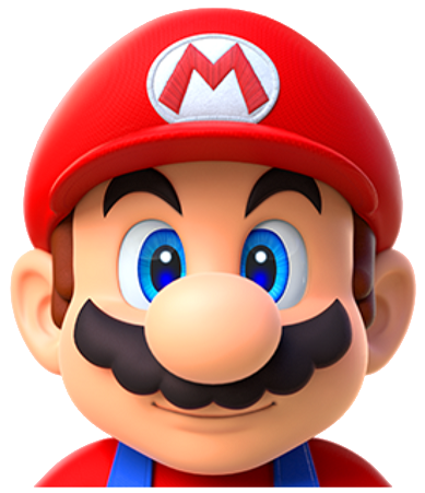 Mario head png. Image super run video
