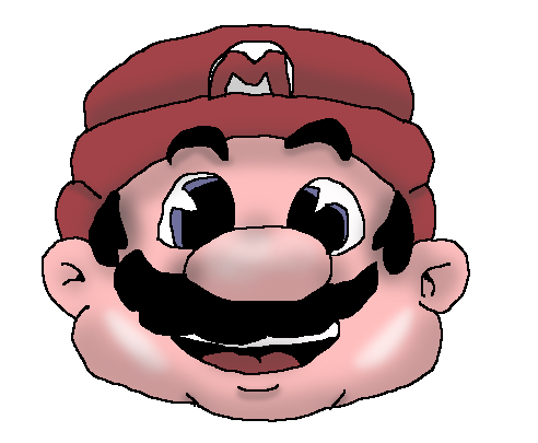 Mario head png. Super bros remixed by