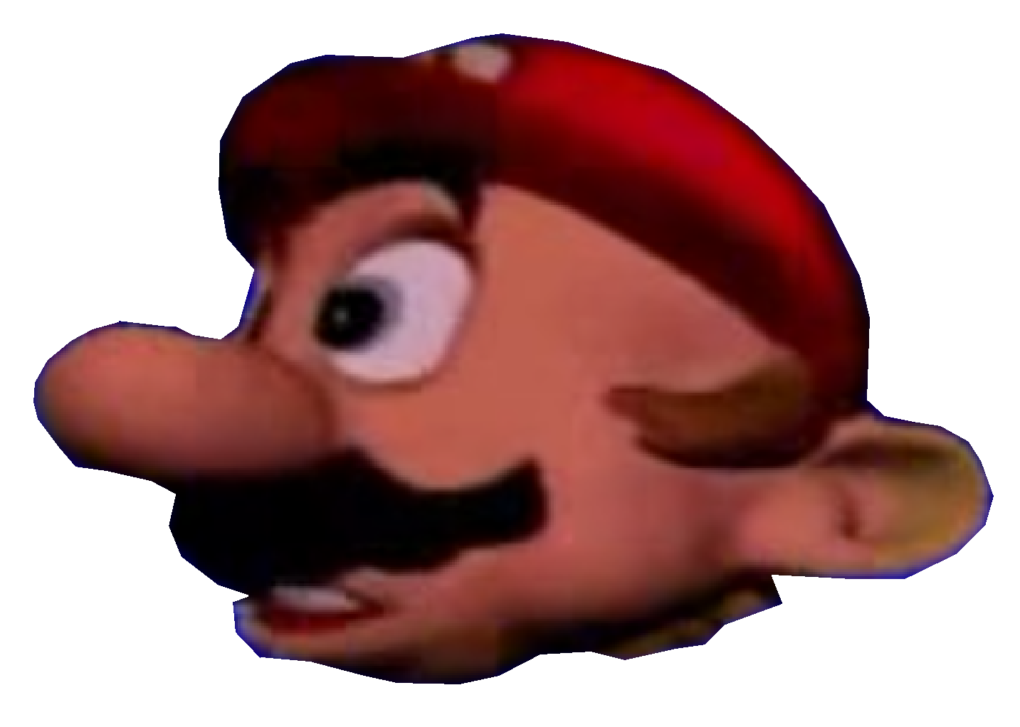 Mario head png. Image lose pose my