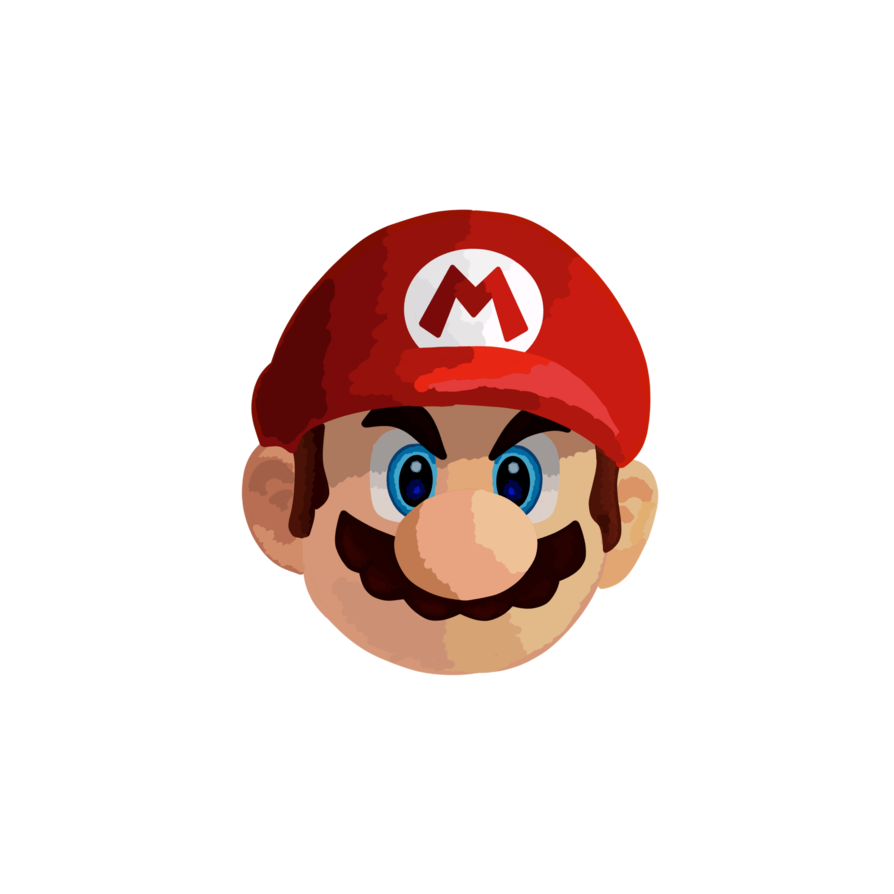 Mario head png. By esmasrico on deviantart