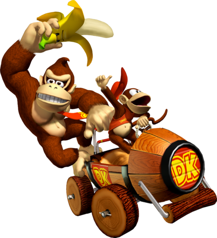 Mario kart double dash png. Image donkey kong and