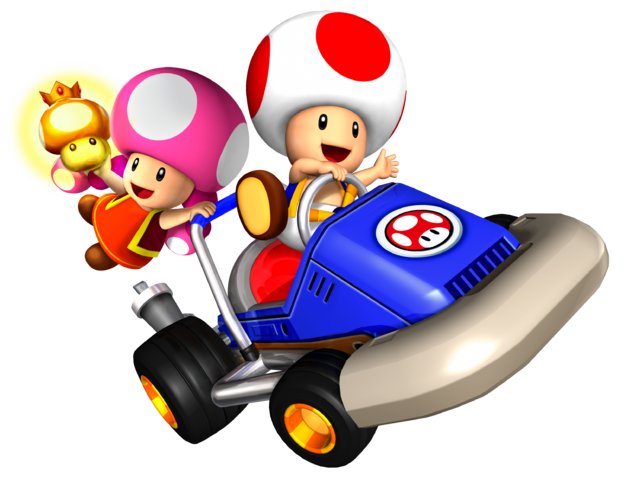 Mario kart double dash png. Image toad and toadette
