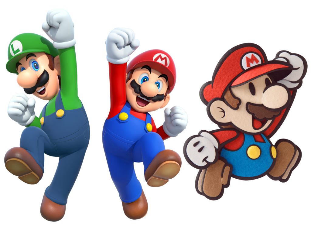 Mario luigi png. And paper jam by