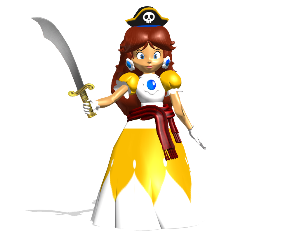Mario party 2 png. Pirate land princess daisy