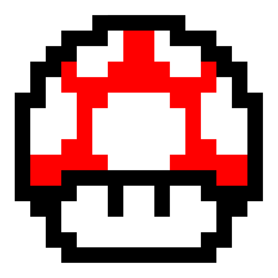 Image super mario red. Pixel png clipart transparent library