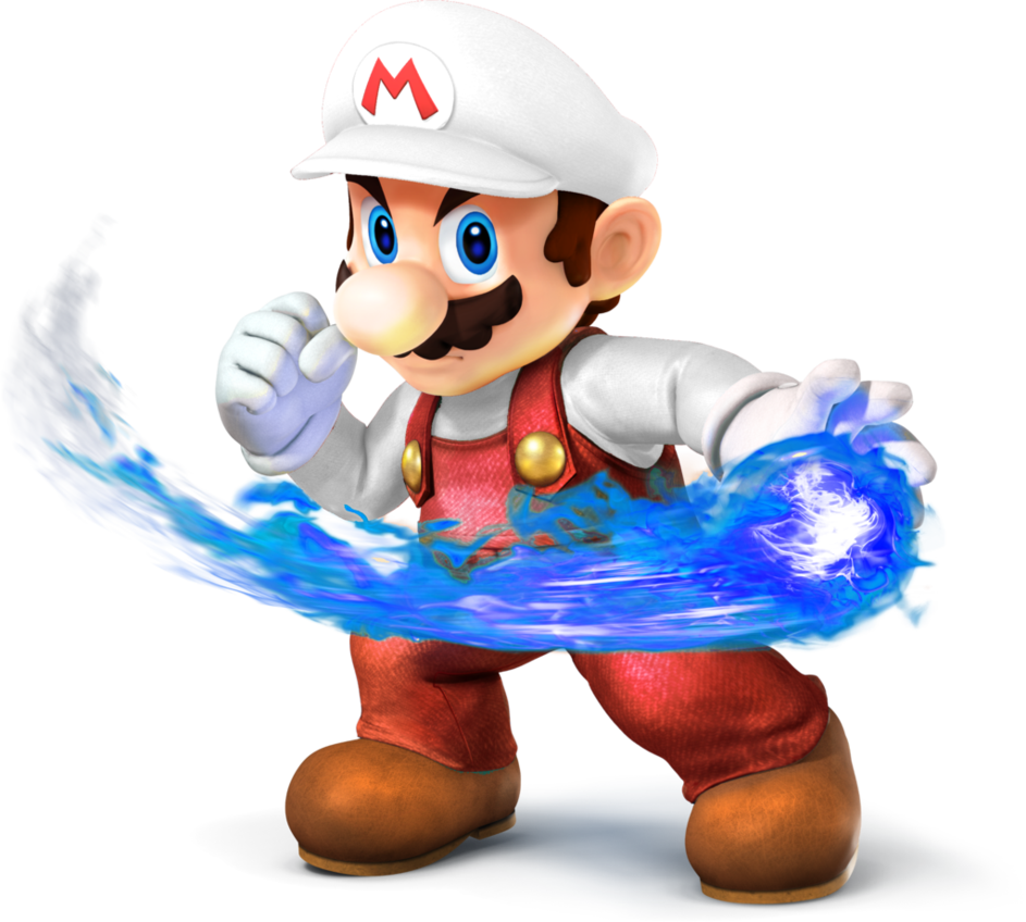 Mario smash 4 png. Super bros fire with