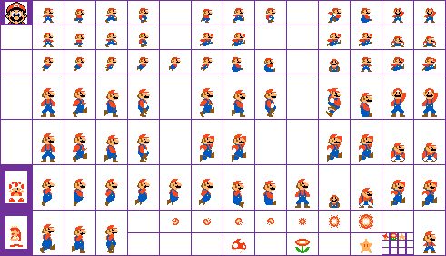 Mario sprite png. Official skins page super