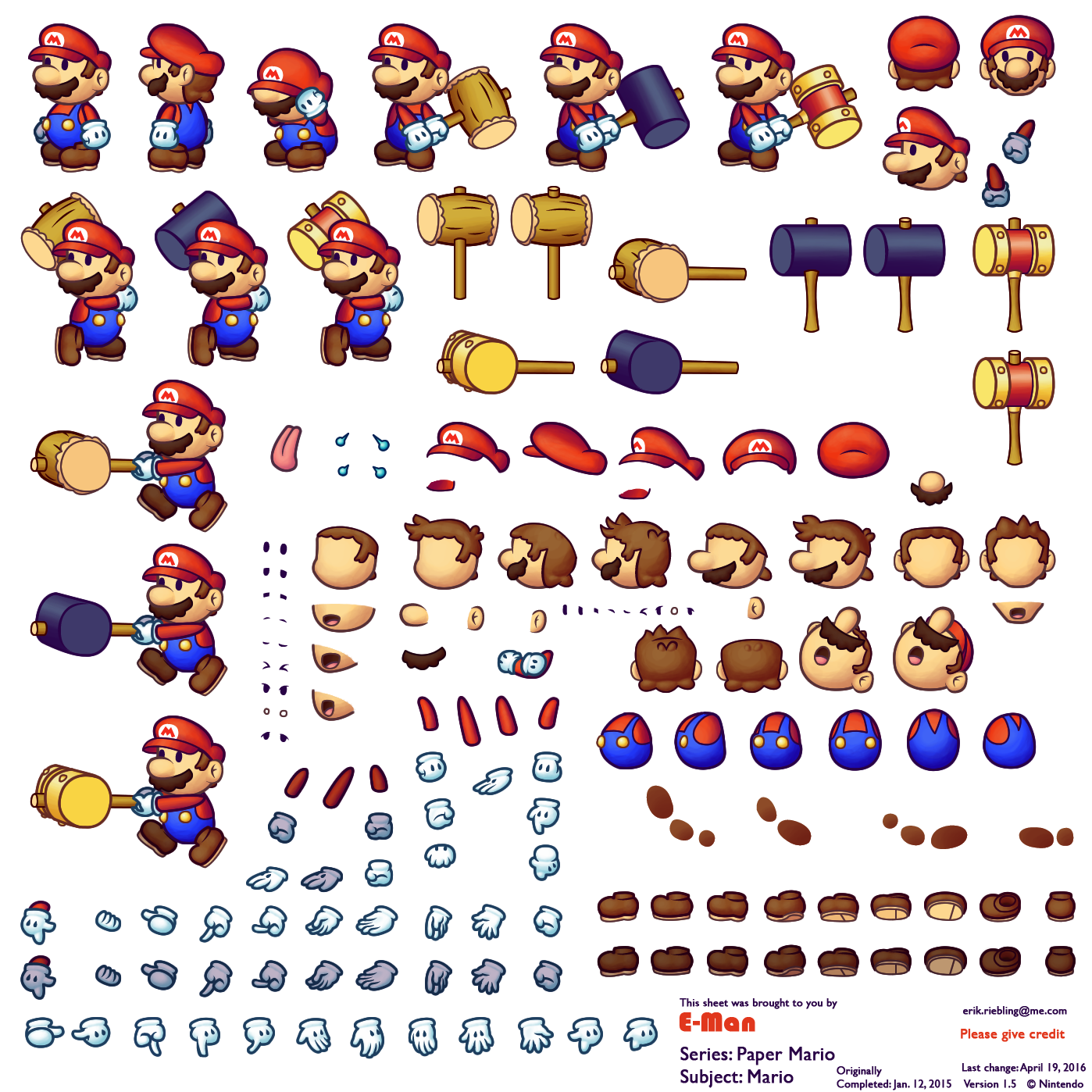 Mario sprite sheet png. The spriters resource full