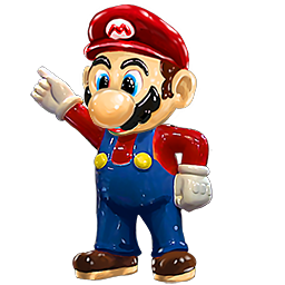 Mario statue png. Super pawn stars the