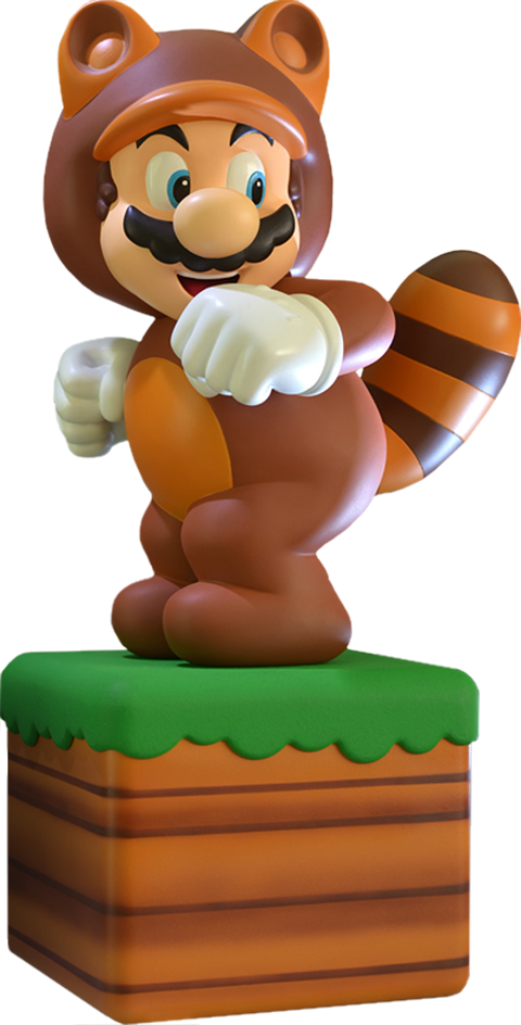 Mario statue png. Tanooki suit sideshow collectibles