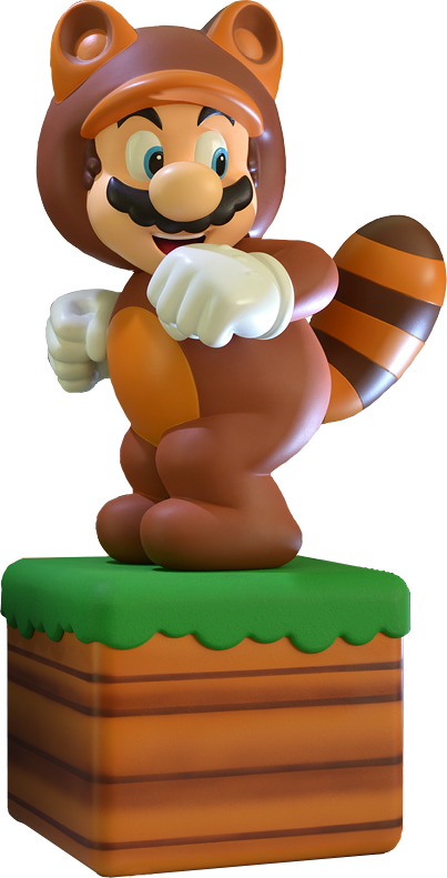 Mario statue png. Super tanooki suit by