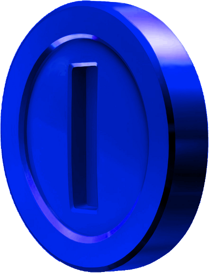 mario sunshine blue coin png