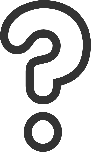 questions clipart black and white