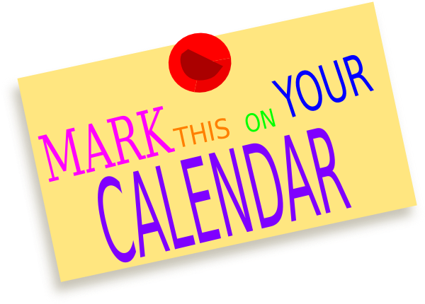 Mark your calendar png. Collection of clipart