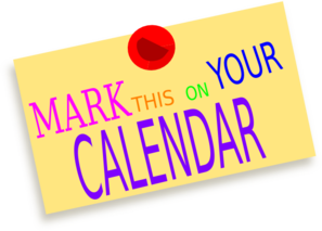 Newspaper the date clip. Mark your clipart banner library stock
