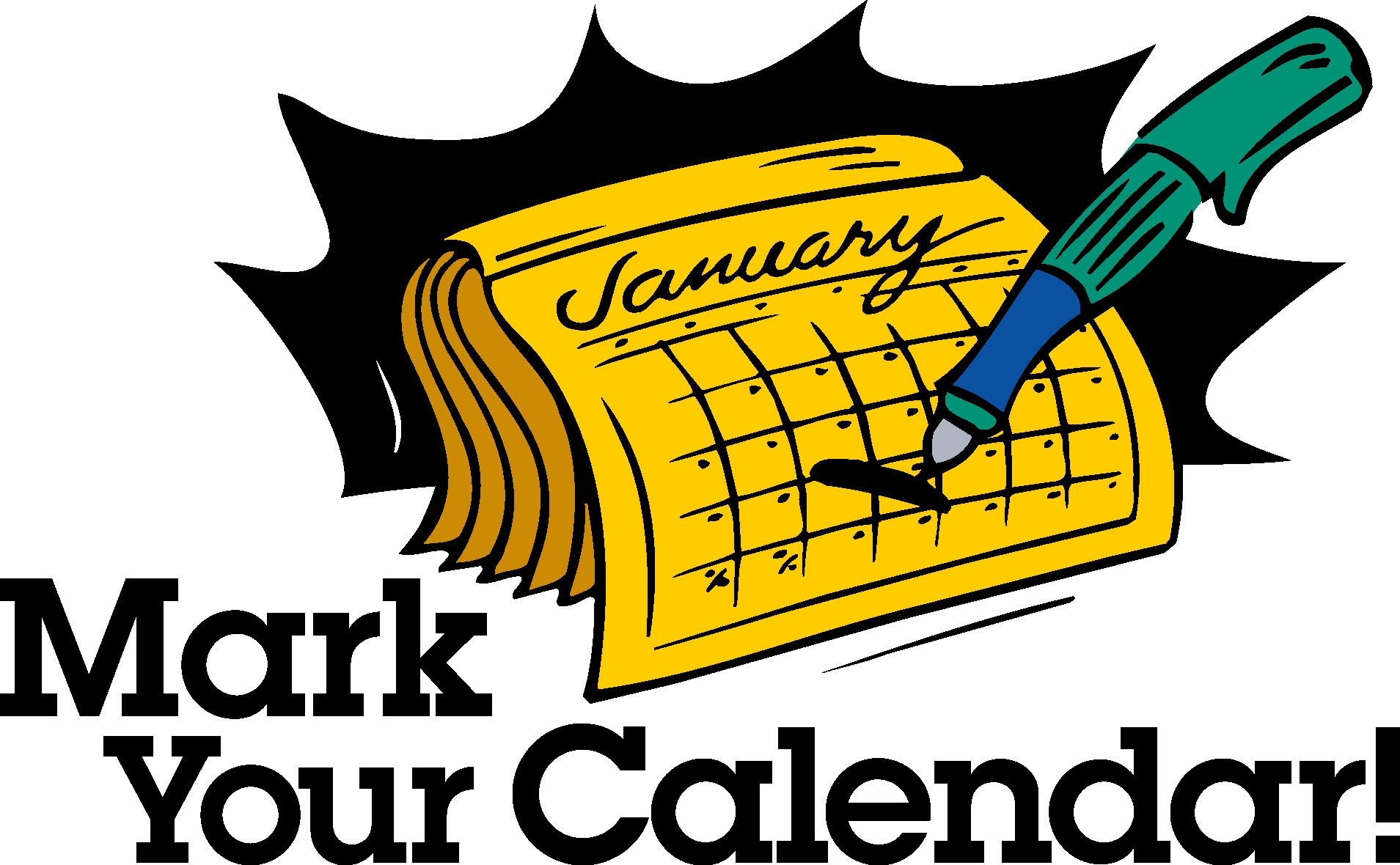 Awesome calendar design digital. Mark your clipart jpg freeuse stock
