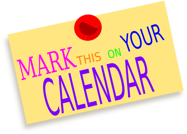 Reminder to you crossword. Mark your clipart calendar clipart clipart royalty free download