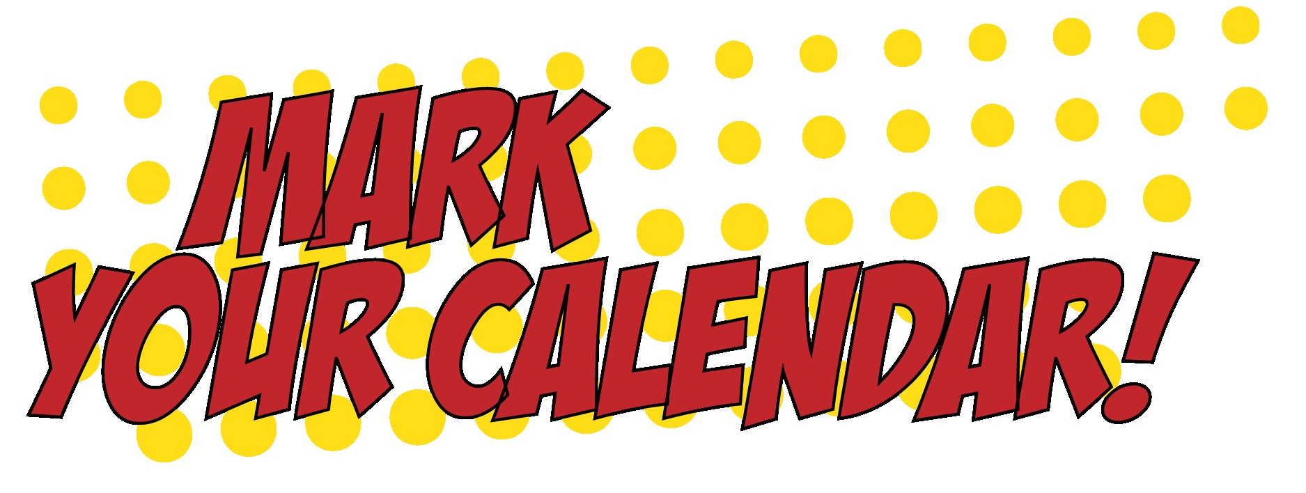 Mark Your Calendar Transparent & PNG Clipart Free Download - YWD