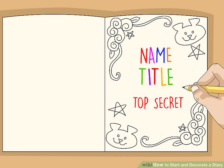 Mark your clipart diary. How to start and