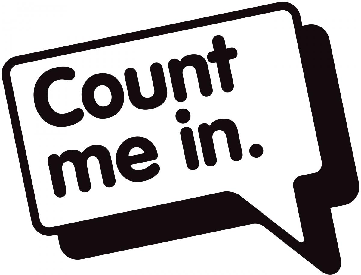 Count me in volunteering. Mark your clipart diary svg black and white library