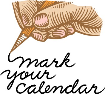 Calendar latest . Mark your clipart update png black and white
