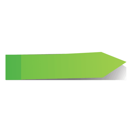 Marker vector arrow. Green post it page