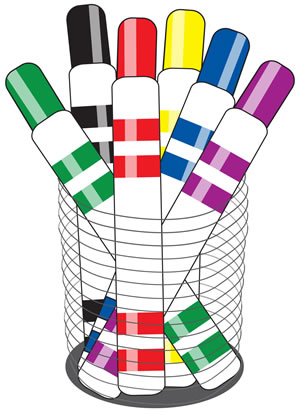 Markers clipart. Free