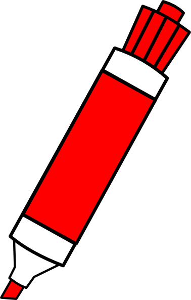 Marker clipart dry erase marker. Red clip art at