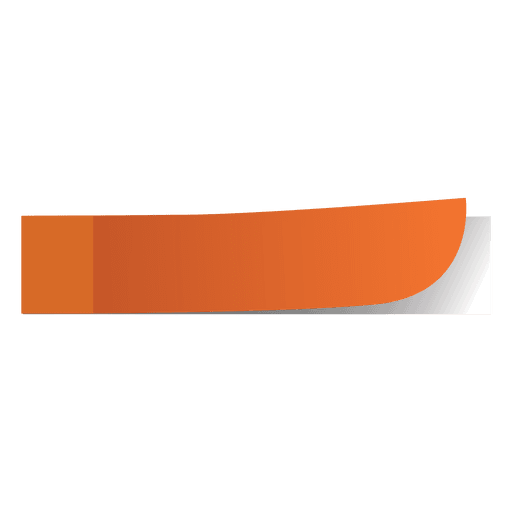 Orange sticky note png. Marker transparent or svg