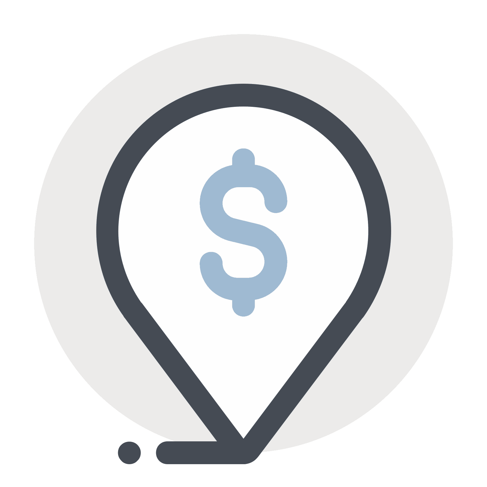Svg markers address. Dollar place marker icon