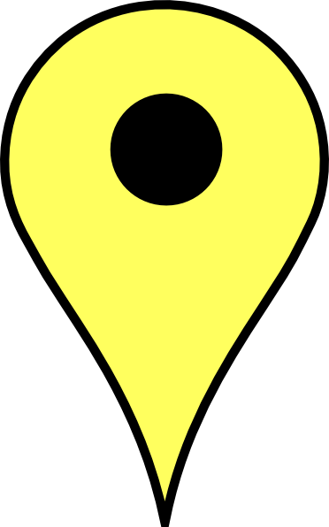 Location clipart location pointer. Yellow marker black border