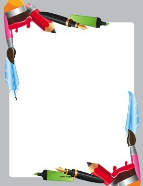 Markers clipart marker border. Great for artists the