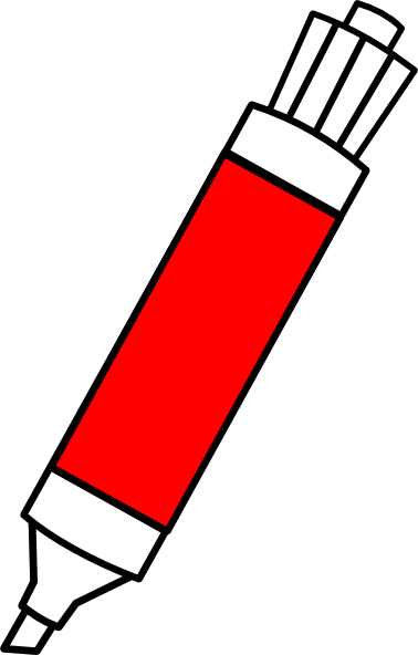 Markers clipart small whiteboard. Red dry erase marker