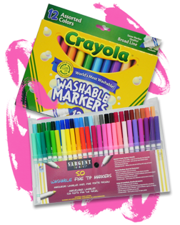 Drawing marker colored pencil. Kids markers how to