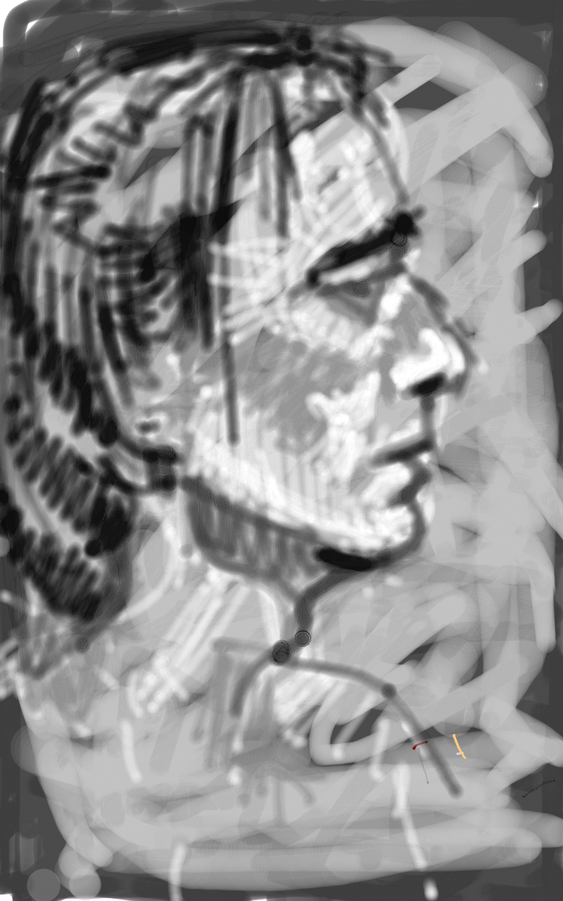 Portraits drawing bad. Samsung galaxy tablet note
