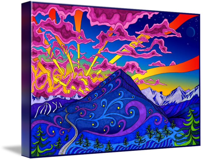 Markers drawing sunset. Sugarloaf by phil lewis