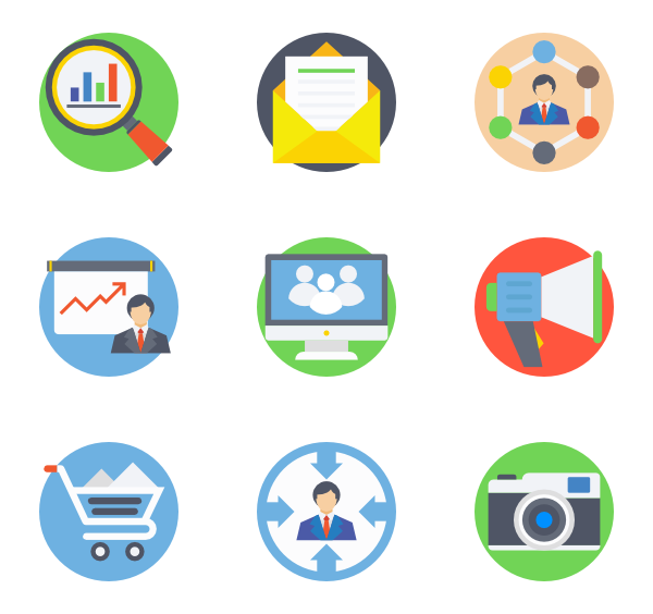 Communication vector digital. Marketing icons free