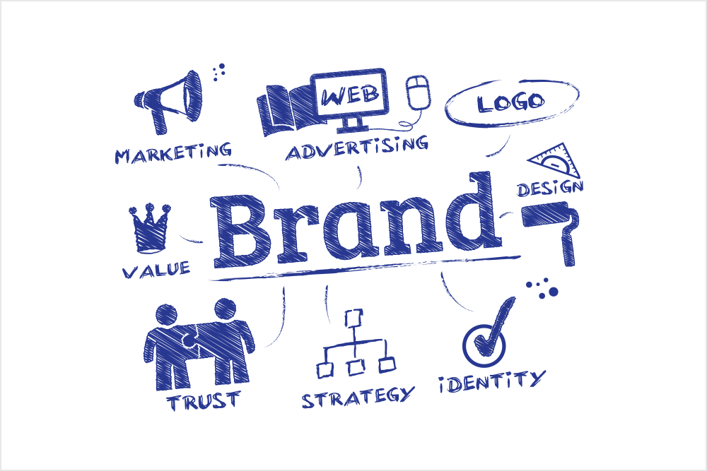 Marketing transparent brand. Design branding infinity global