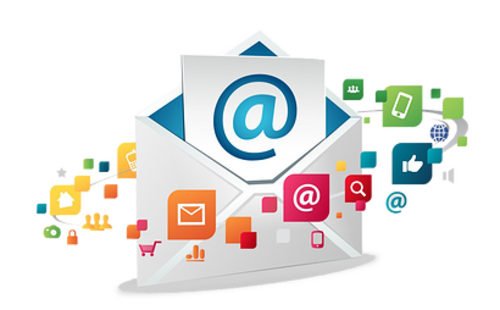 Marketing transparent mail. E services email saletify