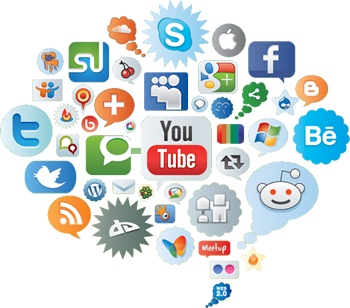 Marketing transparent social networking. Facebook twitter and network