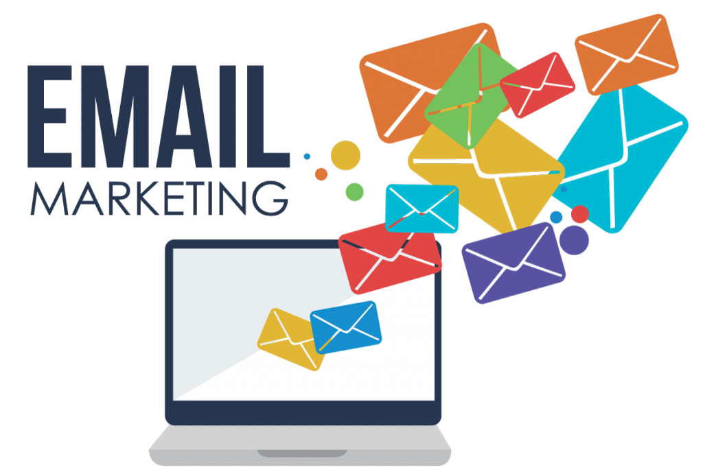 Marketing transparent website. The email for small