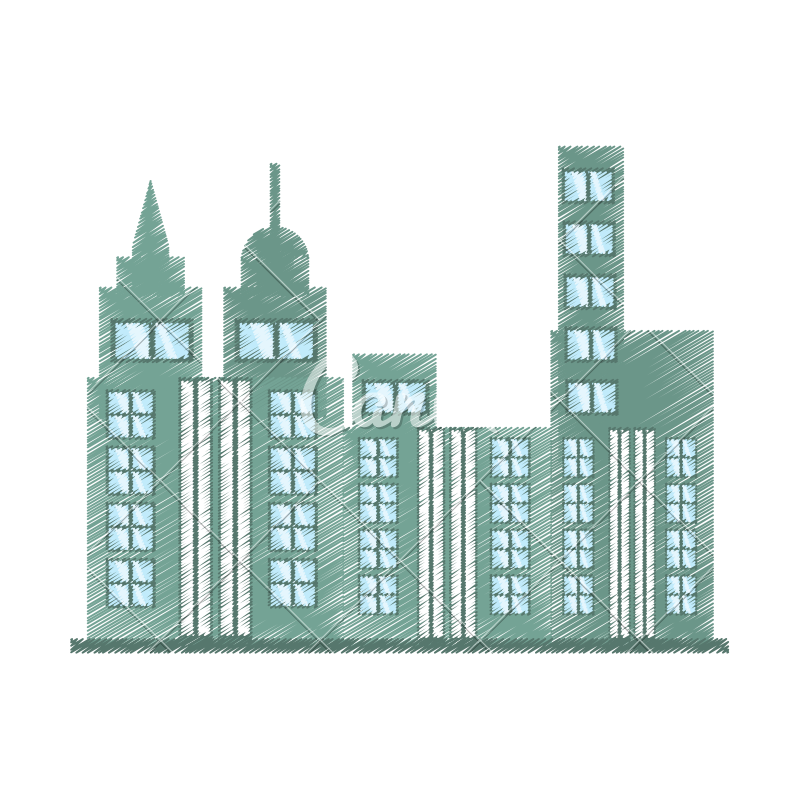 Marketplace drawing building. Skyscraper icon icons by